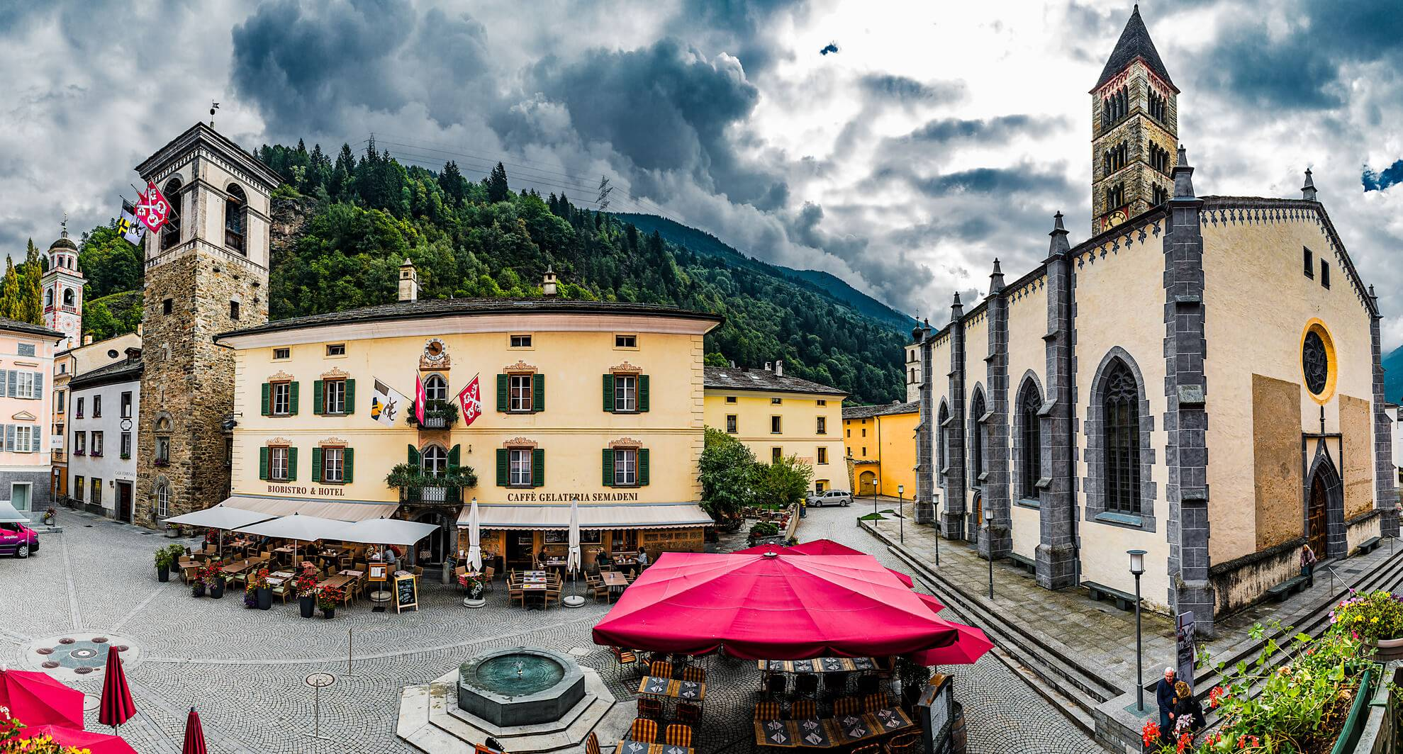 The Three Towers of Poschiavo